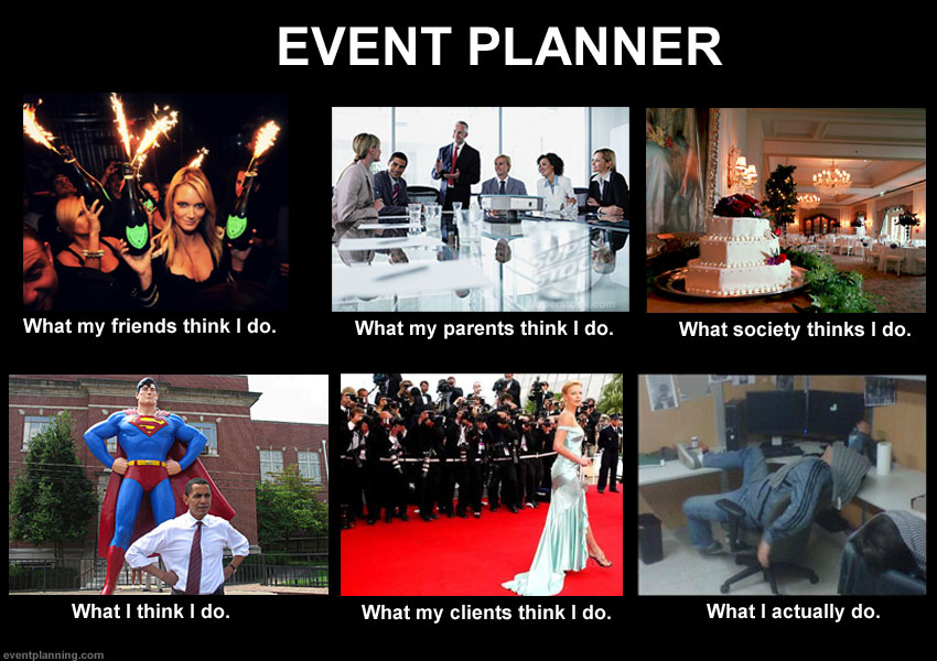what an event planner does  meme
