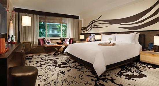 Nobu Hotel room in Las Vegas