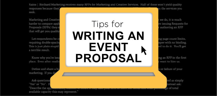 How to write a proposal for an event planner
