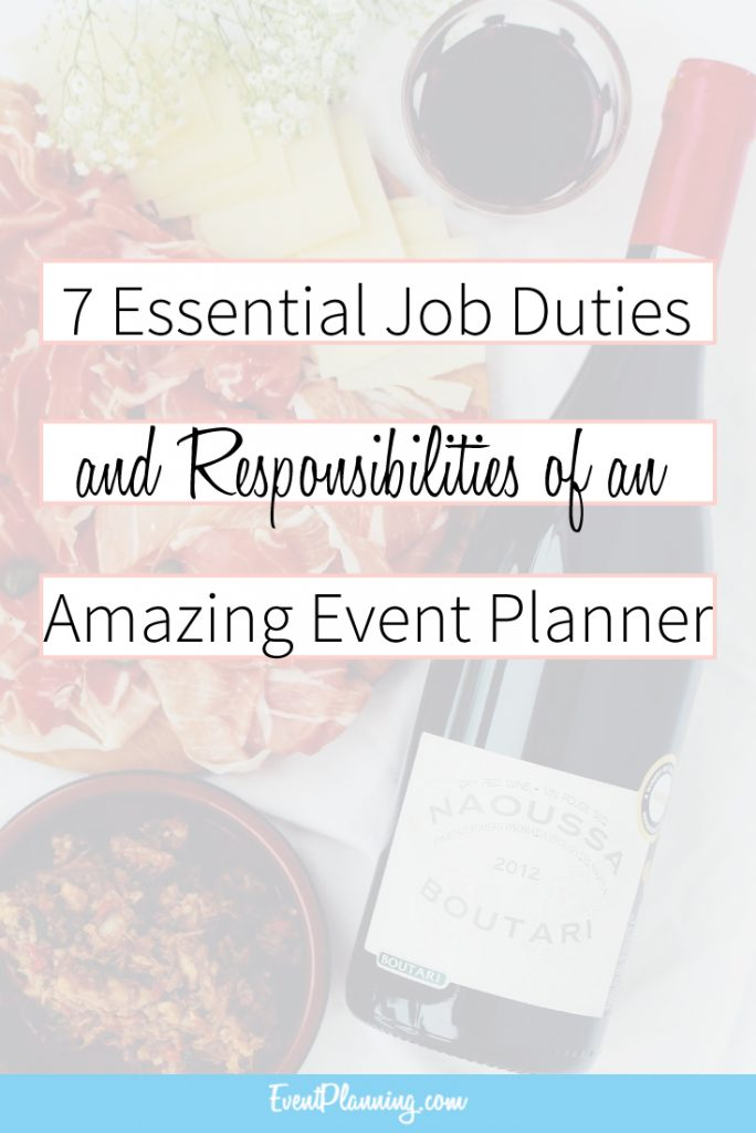 Event Planning Job Description And Responsibilities